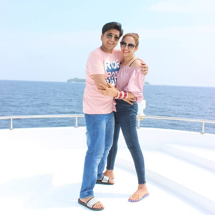 ankit wadhwa maldives honeymoon: priya ankit yacth