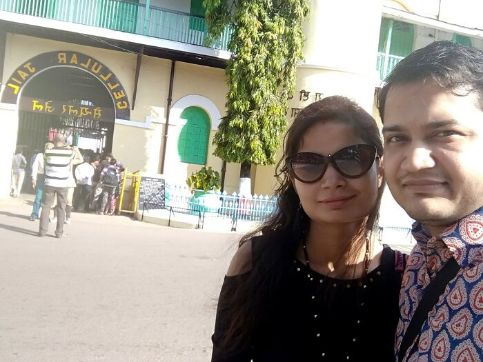 couple outside cellular jail