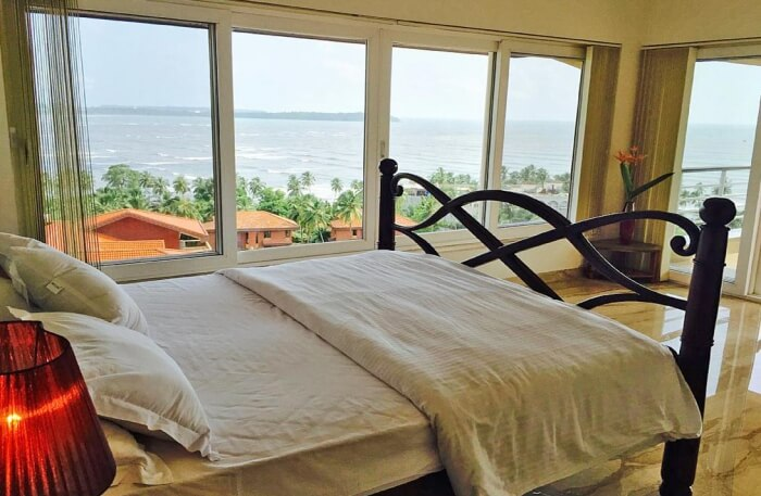 Bedroom in Infini Villa in Goa