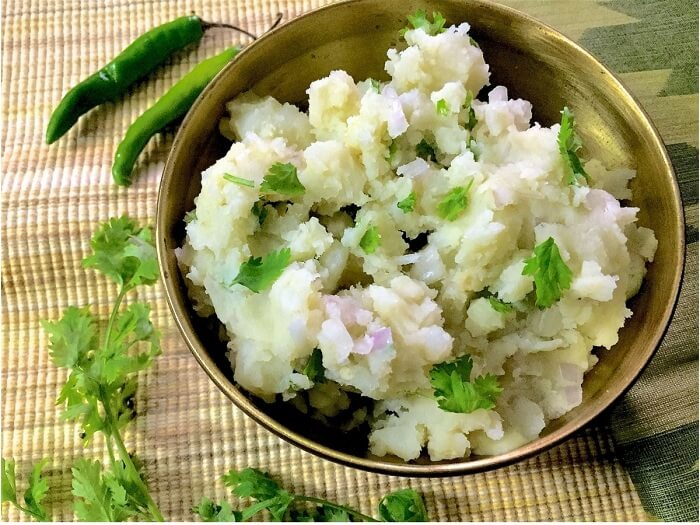 aloo pitika assamese food