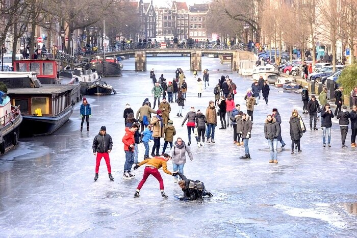 Amsterdam Canals Freezing