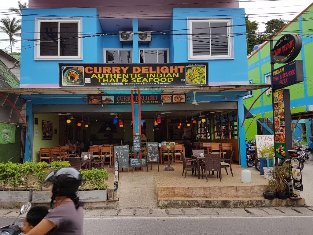 outside a restaurant in phuket