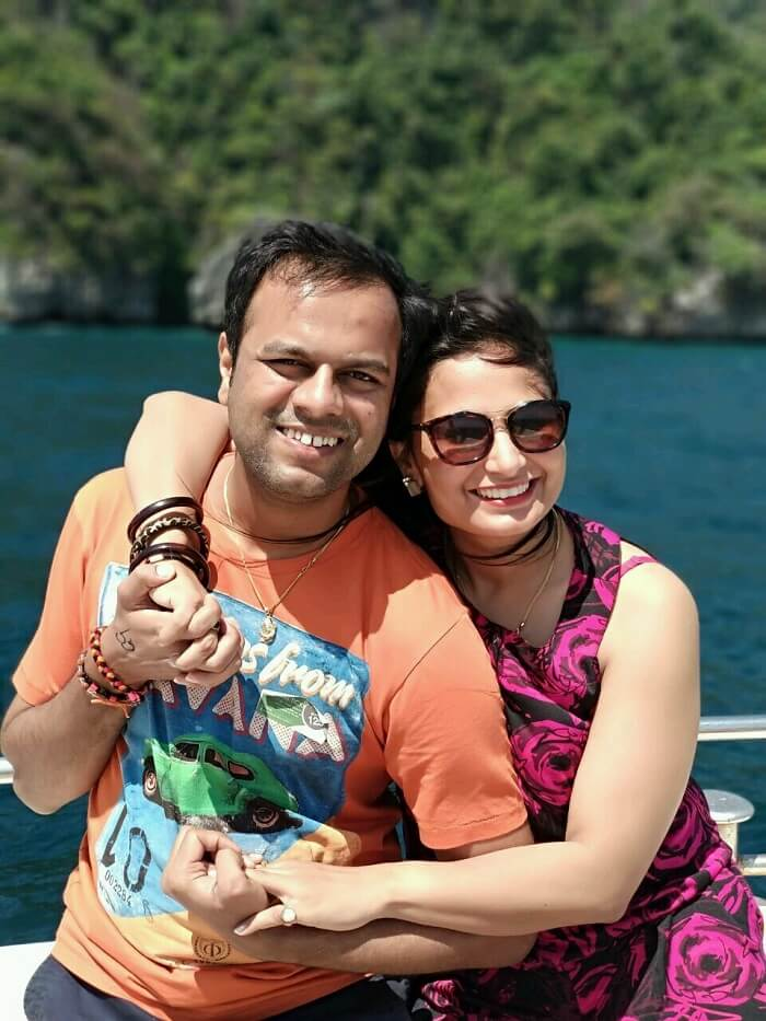 Couple on a cruise in Thailand
