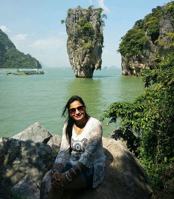 Female traveler in Thailand