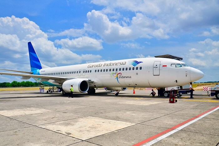 Denpasar airport Bali - garuda Indonesia flight