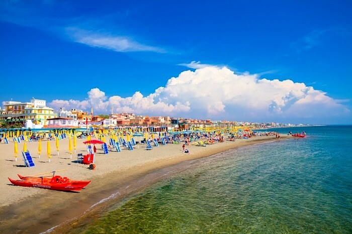 ostia beach in rome