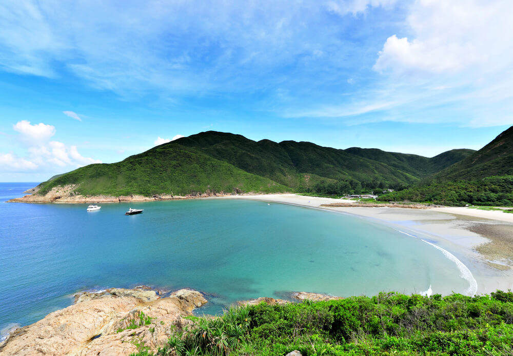 blue beaches of hong kong