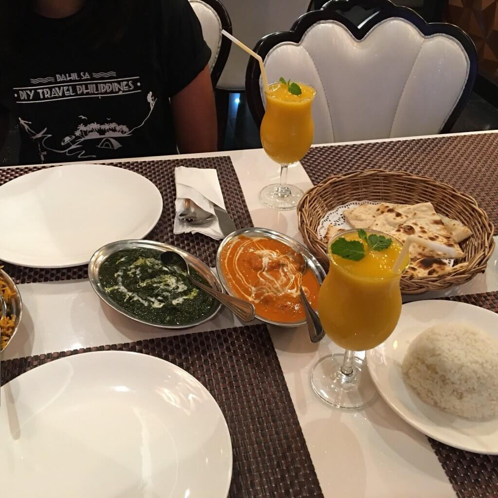 food in an Indian restaurant in Phuket