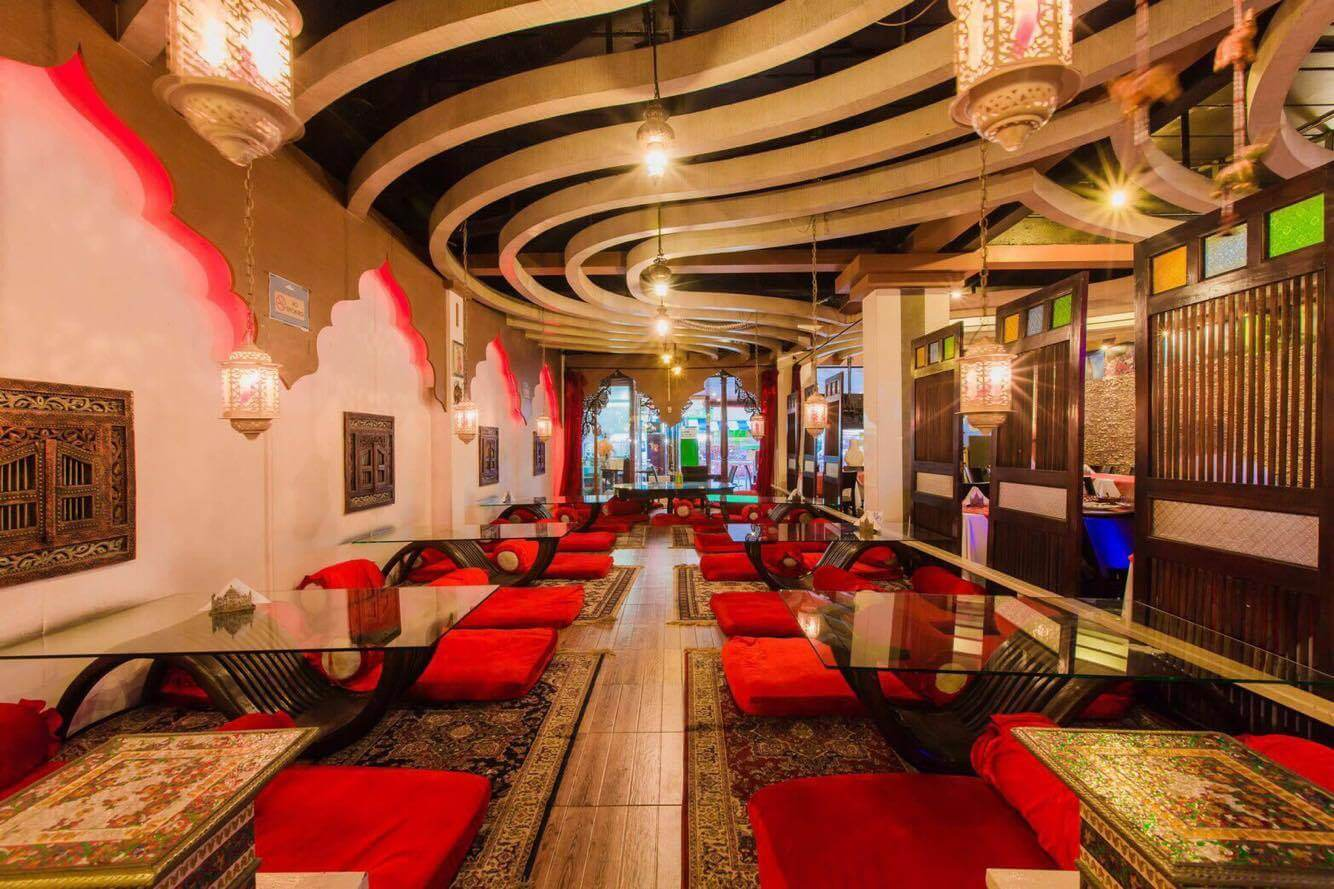 a luxurious indian restaurant from inside