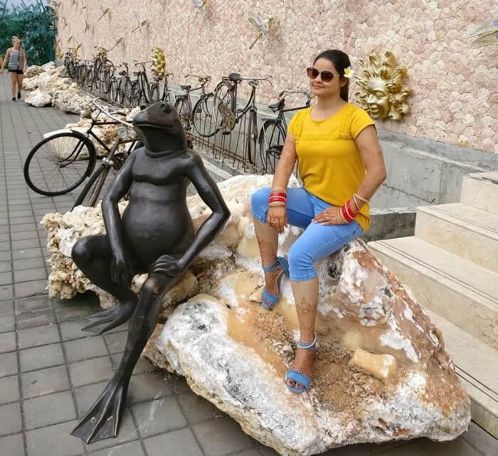 Female traveler in Bali