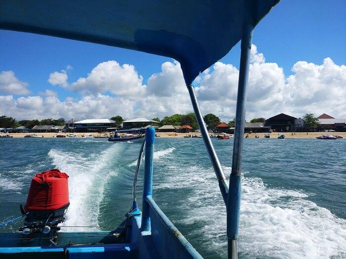 Boat ride in Bali