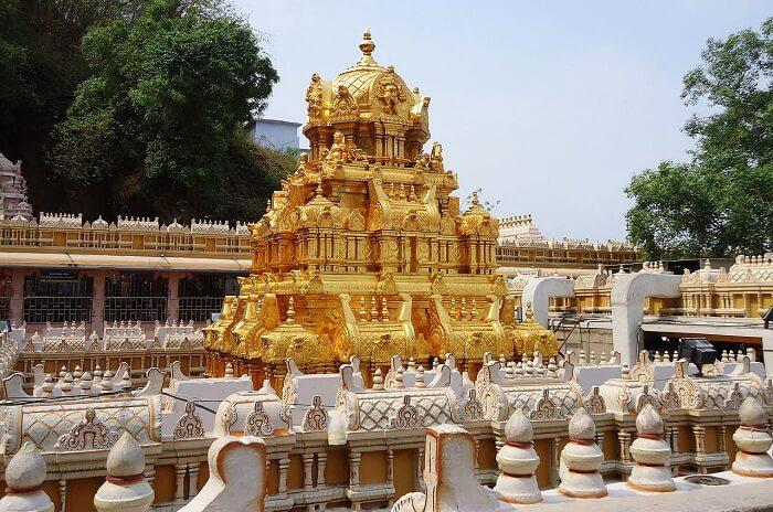 exterior of kanaka durga temple