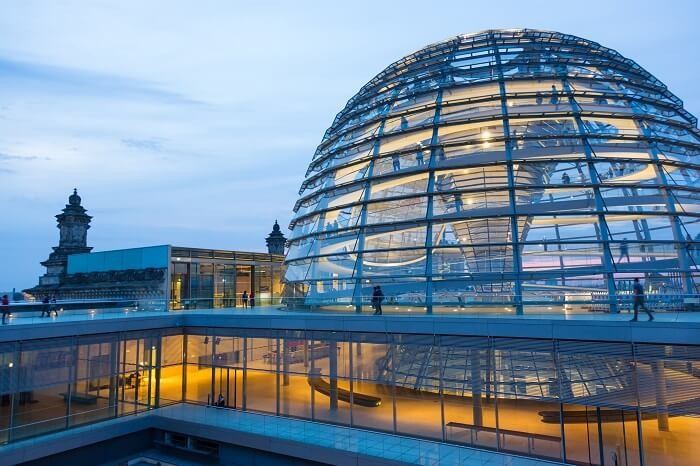 Behold the Berlin panorama from Reichstag Building glass dome