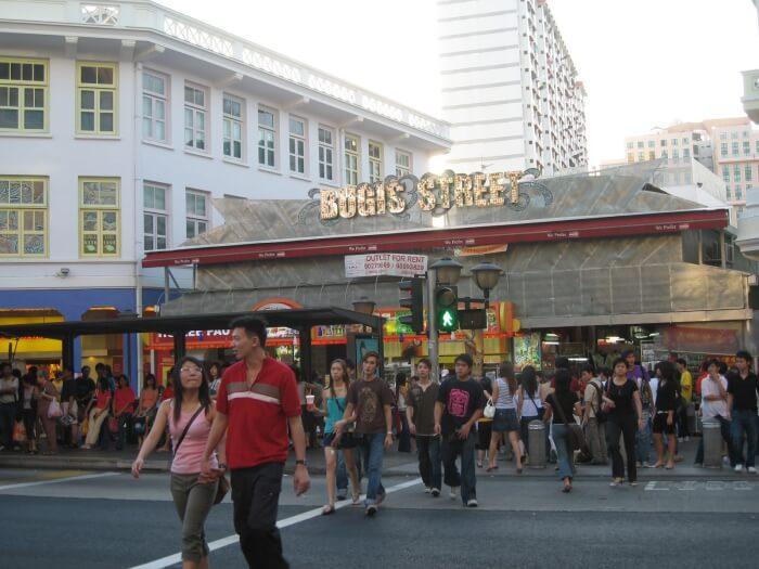 Bugis Street in Singapore