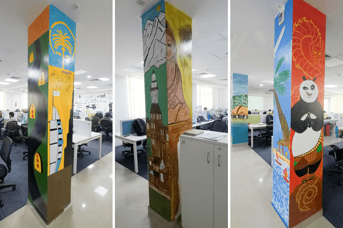 Attractive designs at the TravelTriangle office