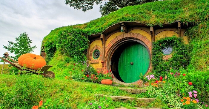 the beautiful house of Hobbiton