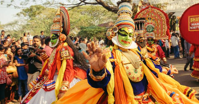 Kathakali dance road show
