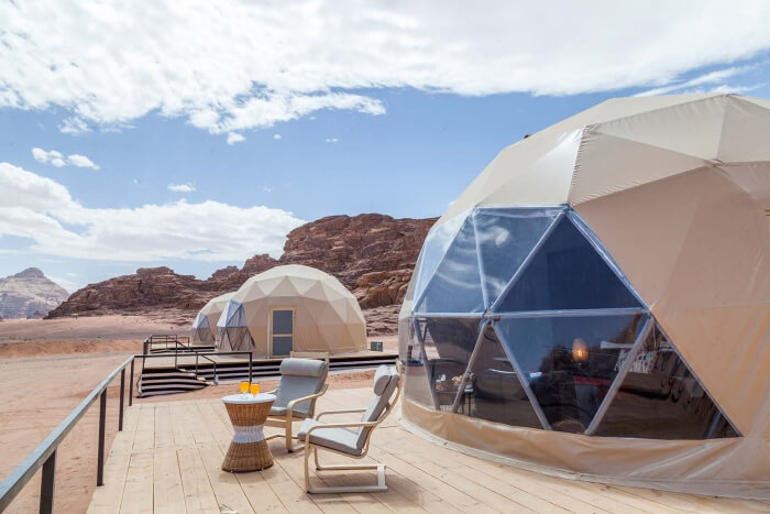 Martian domes in Wadi Rum