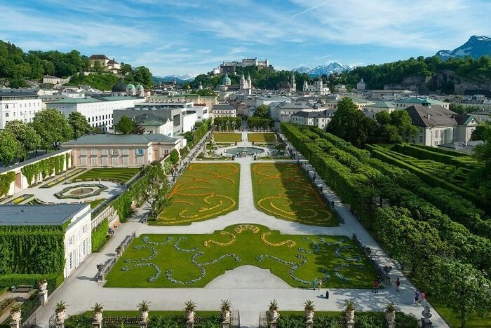 Go for a stroll in the Mirabell Gardens salzburg