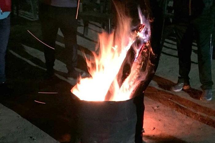 priha dhanaulti weekend trip: bonfire
