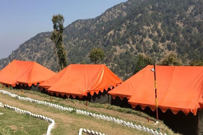 priha dhanaulti weekend trip: campsite