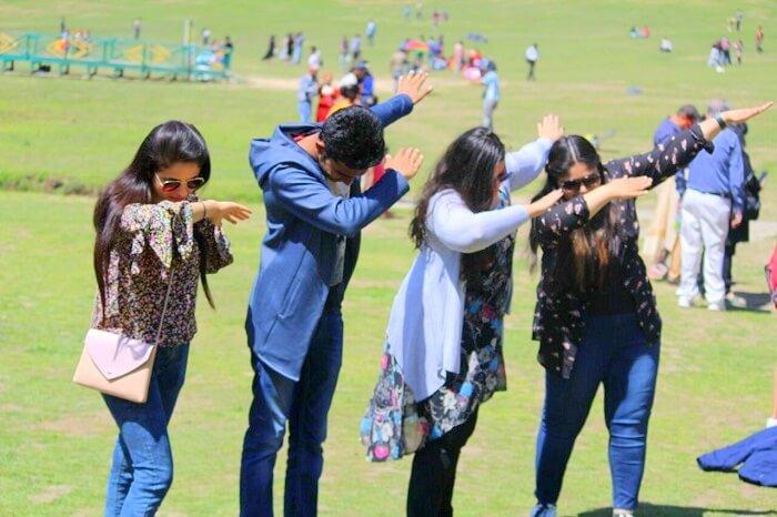 friends do the dab in khajjiar