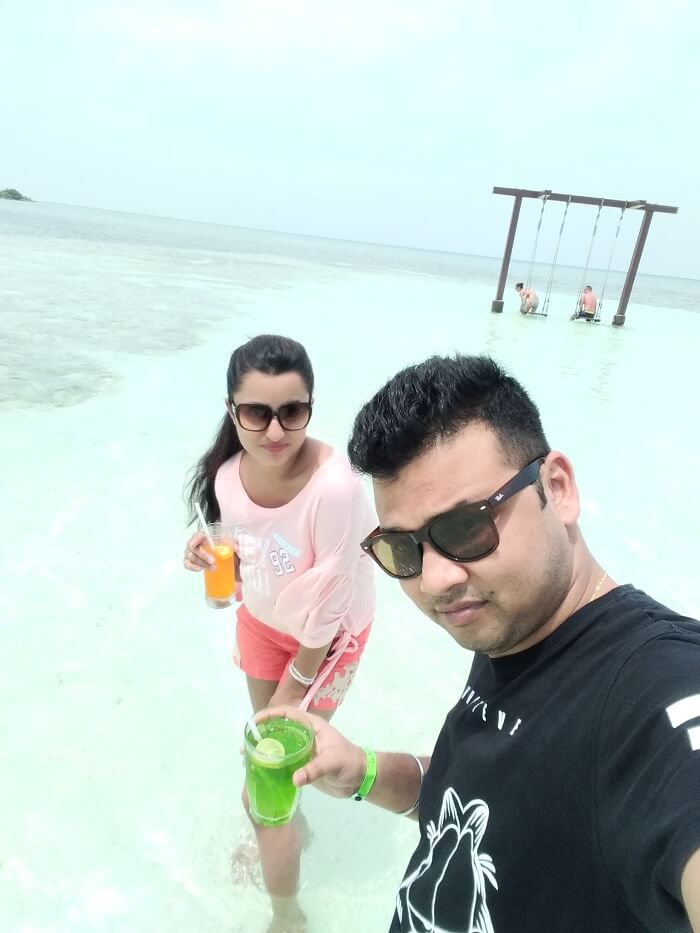 honeymoon in adaaran resort