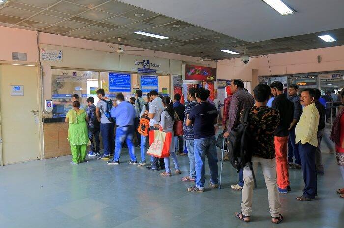 Indian railways ticket window