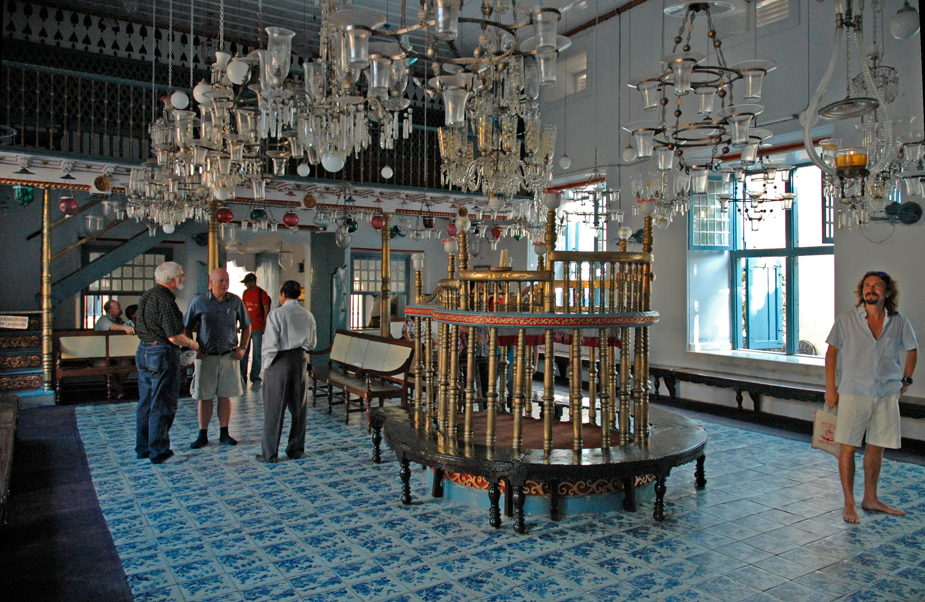 Jewish Synagogue filled with artifacts