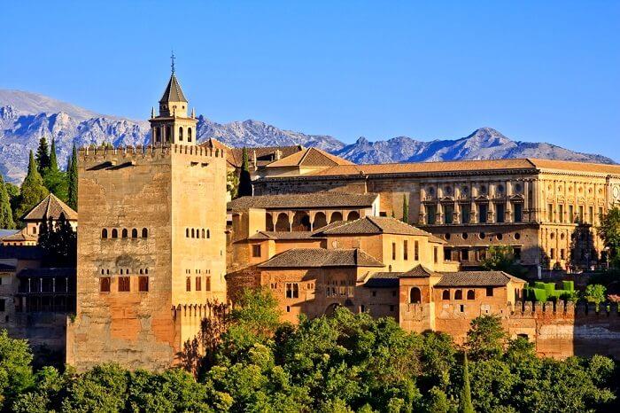 La Alhambra Castle in spain