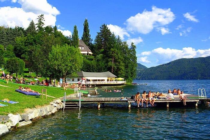 Millstatter See lake austria