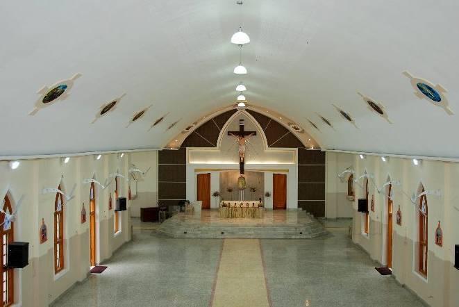 inside a church hall