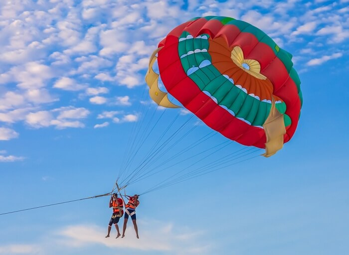 Parasailing at Tanjung Rhu Beach