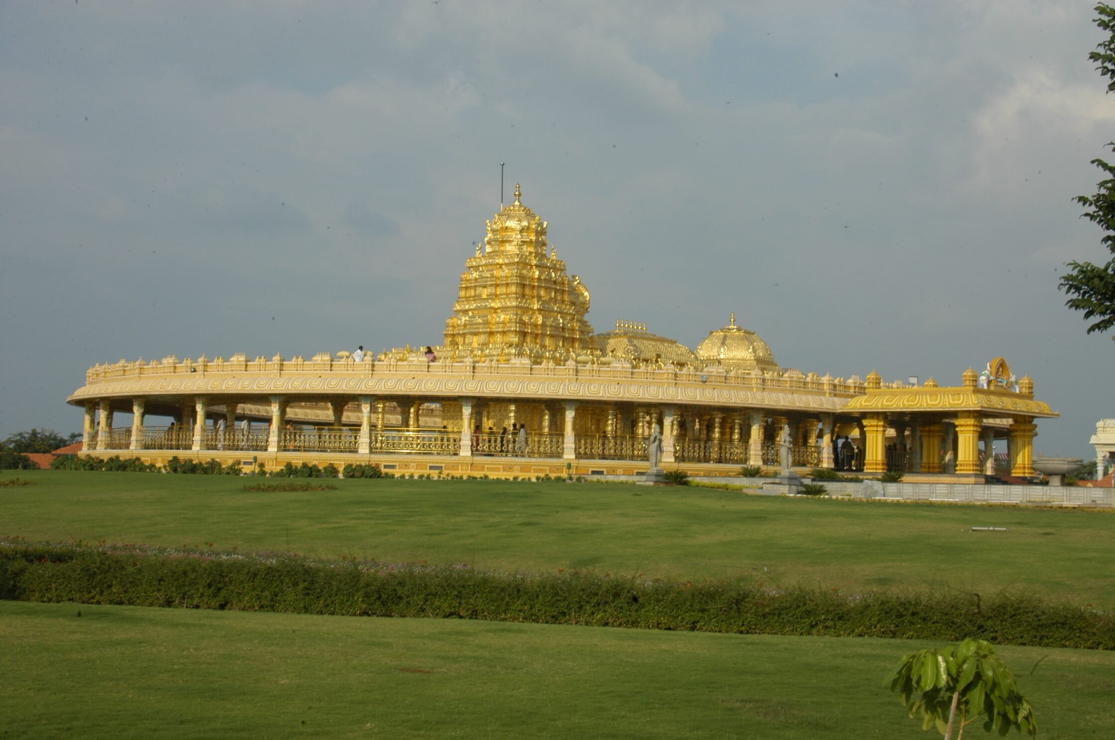 a golden temple