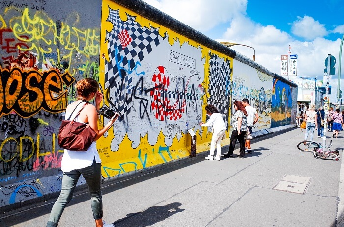 Walk down the East Side Gallery Berlin