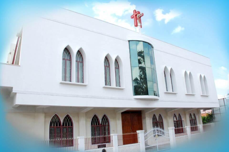a beautiful white church in Coimbatore
