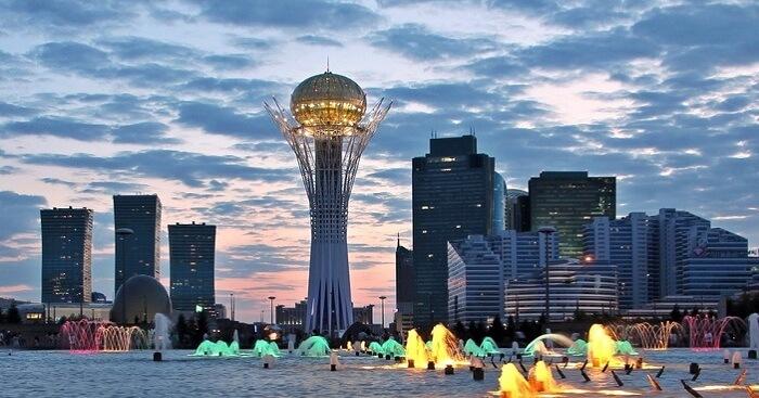 A cityscape of Astana in Kazakhstan