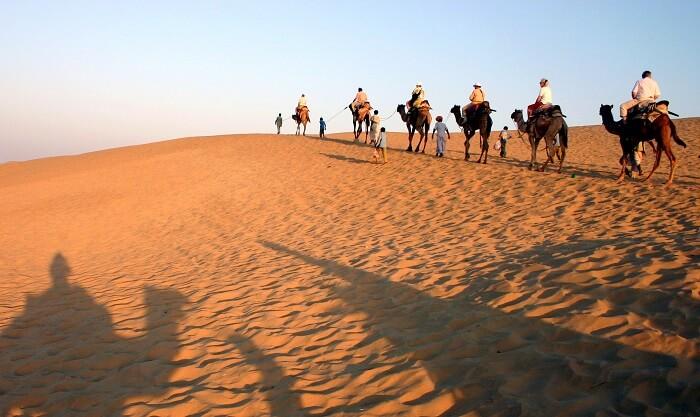 camel safari in thar