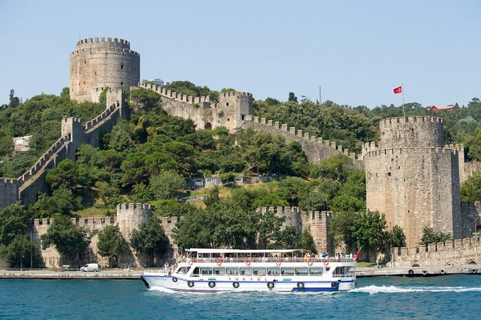 enjoy the cruise ride on bosporus