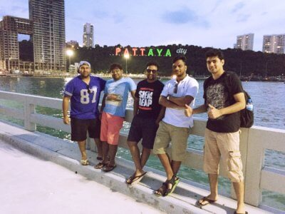 Omesh Nair and friends in Pattaya
