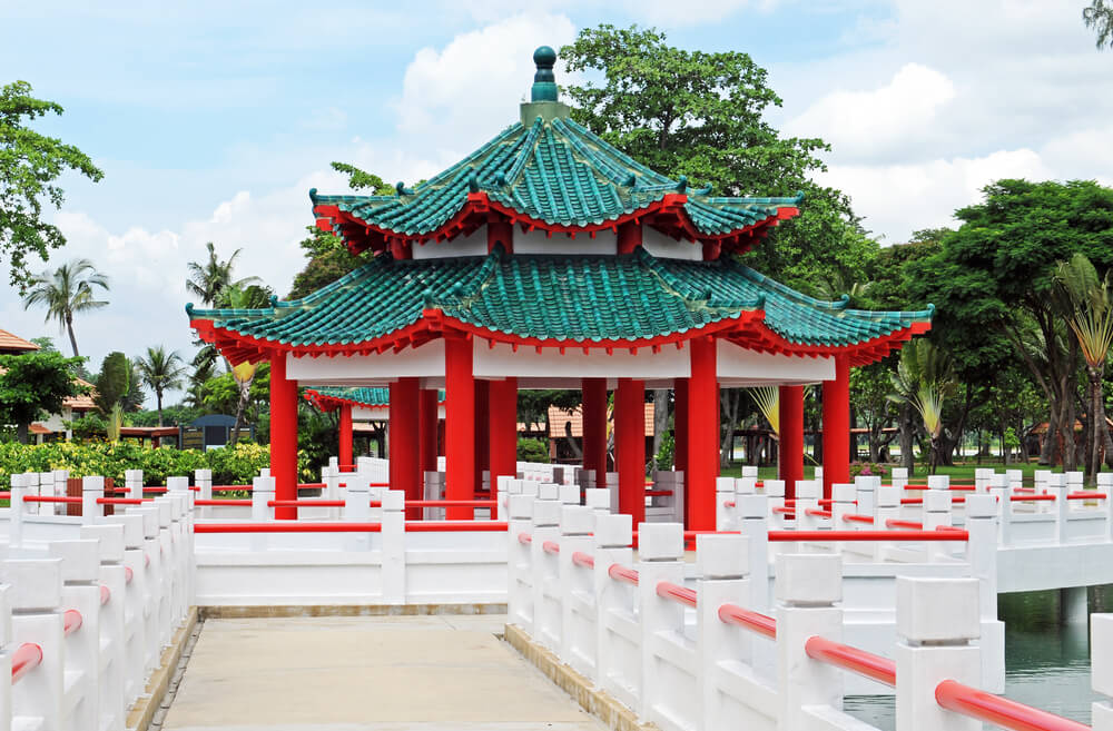 a beautiful gazebo in Kusu Island