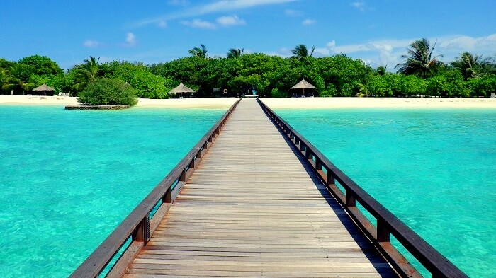 Boardwalk in Maldives Nature Park