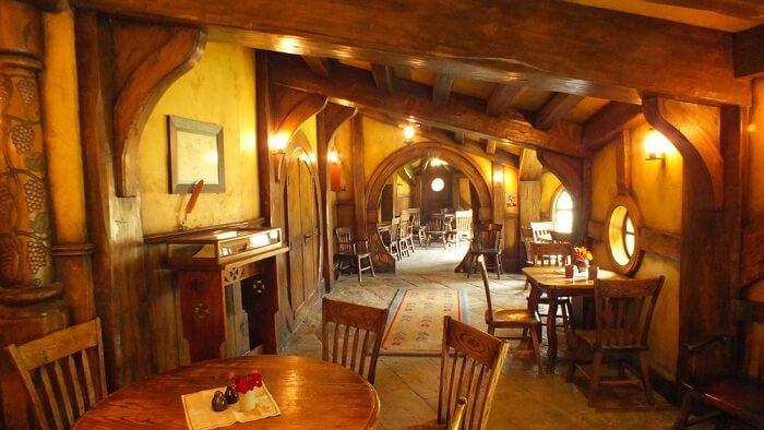 inside a hobbiton home