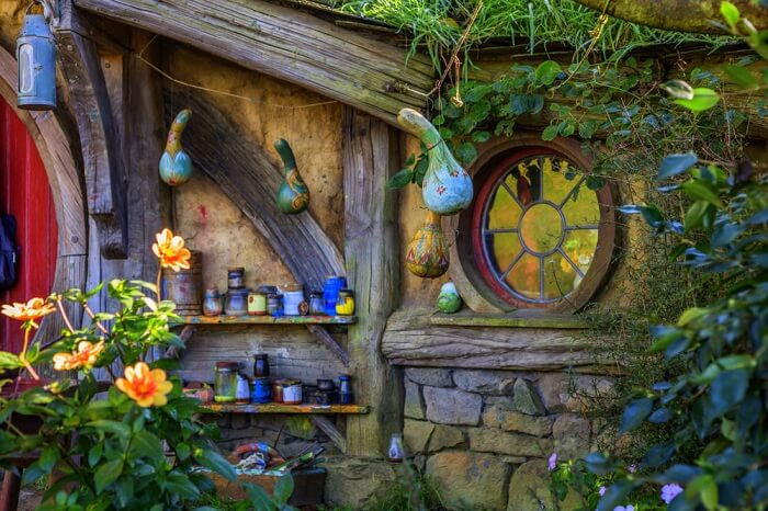 beautiful vessels of hobbits in hobbiton village