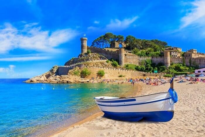 tossa de mar castle in spain
