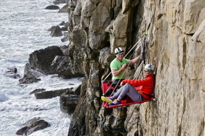 Cliff Camp 60 Feet Above English Channel