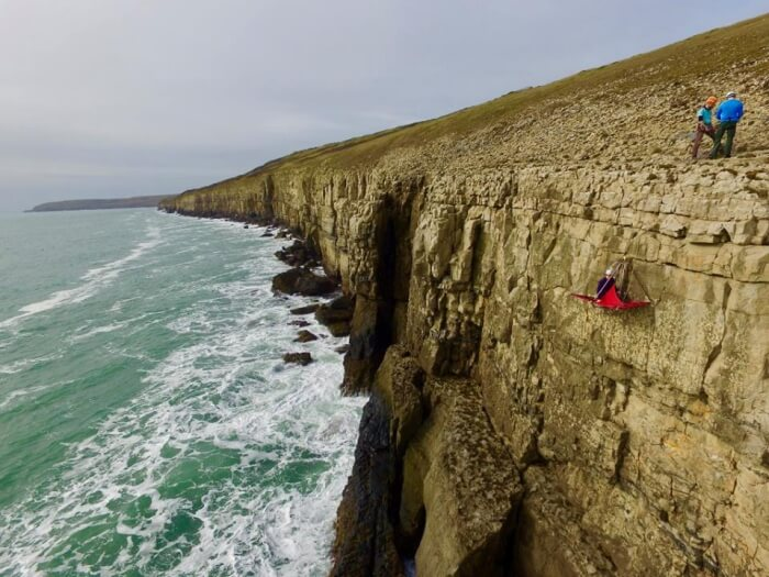 Cliff camping in Dorset