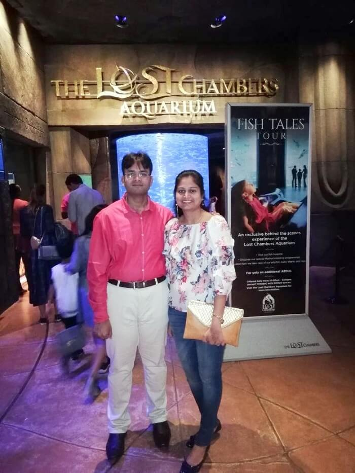 ashish singhal dubai honeymoon trip: lost chambers