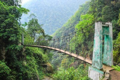 Goechala Trek Suspension Bridge Khangchendzonga