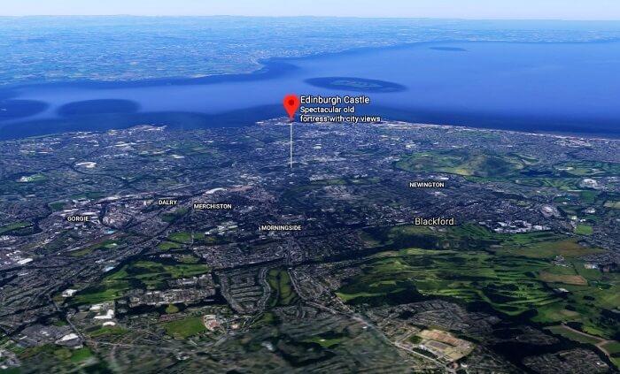 Location Of Edinburgh Castle